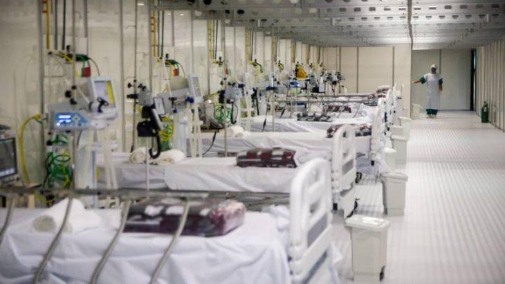 Novos leitos de UTI instalados no Hospital de Campanha do Hangar Centro de Convenções, em Belém. - Foto: Divulgação/ Governo do Pará