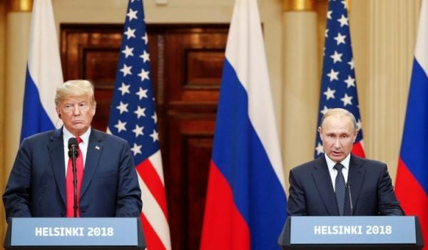 O presidente dos EUA, Donald Trump, e o presidente russo, Vladimir Putin – Grigory Dukor/Reuters/Reprodução/Agência Brasil