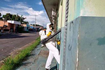Com 44 infectados por Covid-19, prefeitura de Parintins está investindo na desinfecção de locais públicos (Divulgação/Prefeitura de Parintins)