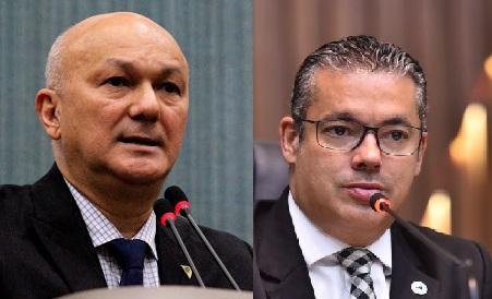 Coronel Alfredo Menezes e o deputado Josué Neto querem entregar a gestão da Saúde do Amazonas ao presidente Jair Bolsonaro . Foto: Reprodução