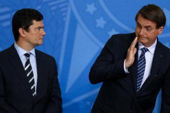 O então ministro Sérgio Moro e o presidente da República Jair Bolsonaro