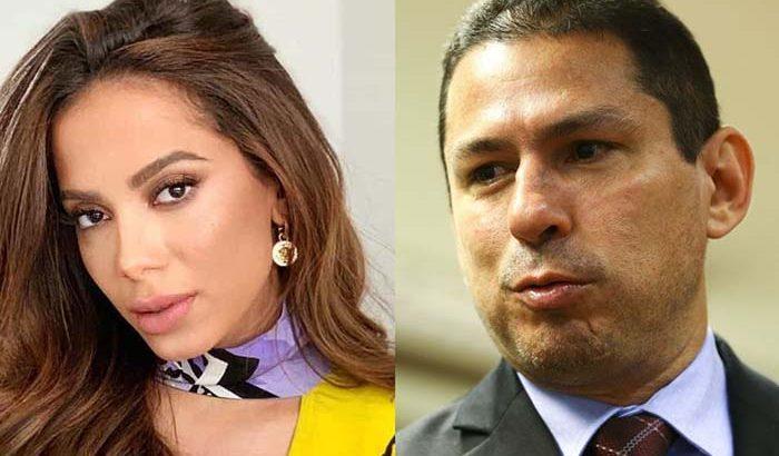 Anitta e deputado Marcelo Ramos (Divulgação)