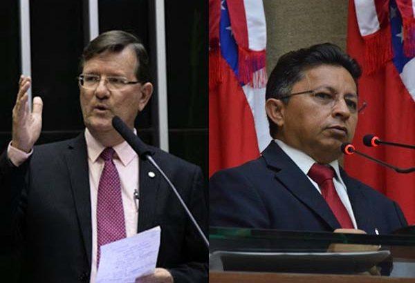 Deputado federal José Ricardo (à esquerda) e deputado estadual Sinésio Campos (Divulgação)