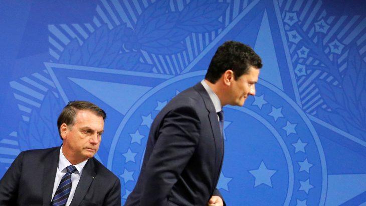 Jair Bolsonaro e o ex-ministro da Justiça Sergio Moro - foto: Adriano Machado/ REUTERS