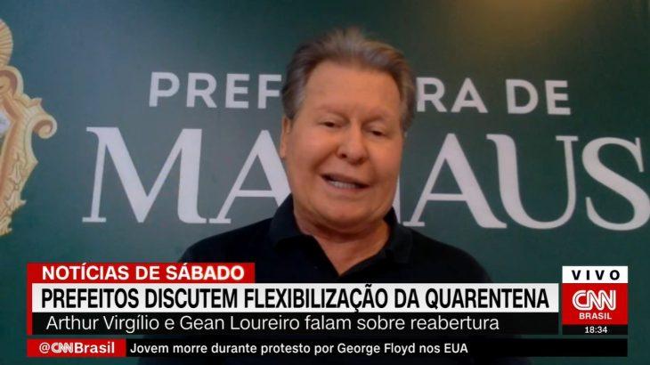 Em entrevista à CNN, o prefeito de Manaus, Arthur Neto contou que deve processar Bolsonaro por omissão à causa indígena. (Foto: Reprodução)