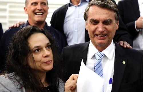 Deputada Janaina e presidente Bolsonaro