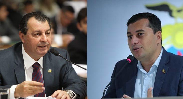 CPI da Saúde vai investigar contratos da Susam durante as gestões do ex-governador Omar Aziz (a esquerda) e de Wilson Lima (a direita) (Montagem/Divulgação)