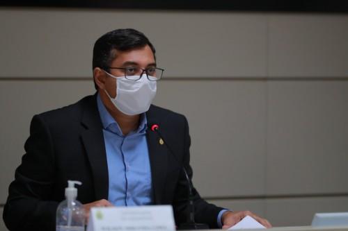 Governador Wilson Lima deu declaração na manhã desta segunda-feira, 8. (Divulgação)