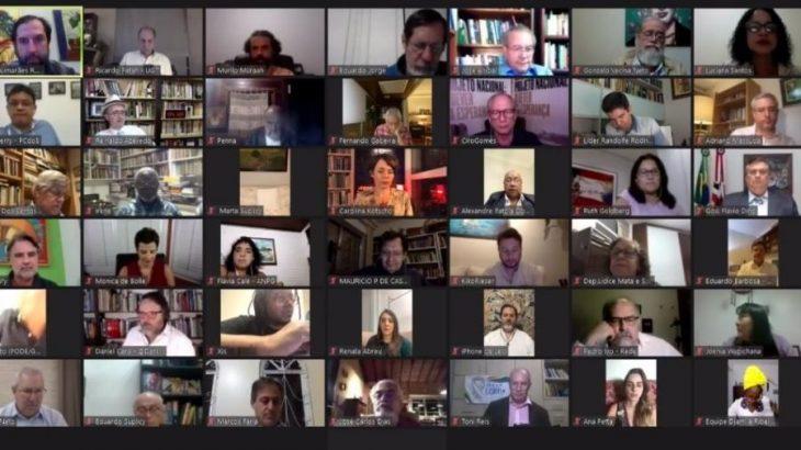 O movimento Direitos Já reuniu mais de cem nomes em uma live em prol da democracia, da vida e da defesa social na noite dessa sexta-feira, 26. (reprodução/ internet)
