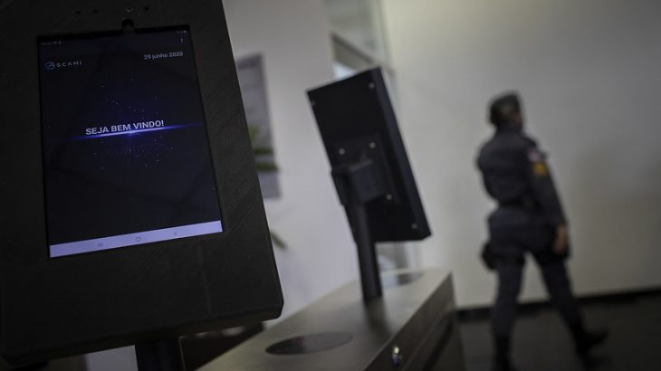 Sistema conta com 40 câmeras para reconhecimento facial e das quatro catracas para controle de acesso (Raphael Alves/TJAM)