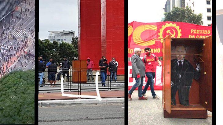 Cada vez mais, as manifestações de rua contra ou a favor do governo Bolsonaro, ganham contornos de  humor incorreto, dessa vez o alvo foi vereador Carlos Bolsonaro, filho do presidente (Reprodução/Internet)