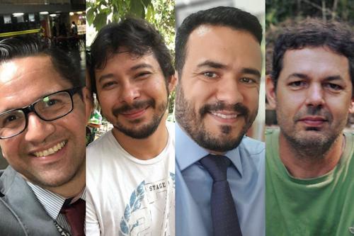 Thiago Flores, André Frazão, Daniel Viegas e Carlos Durigan abrem o debate na internet sobre Meio Ambiente e Direitos Humanos(Reprodução)