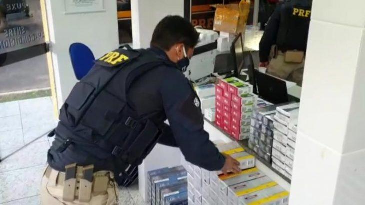 O material ilícito era transportado em 3 malas de viagem (Divulgação/PRF)
