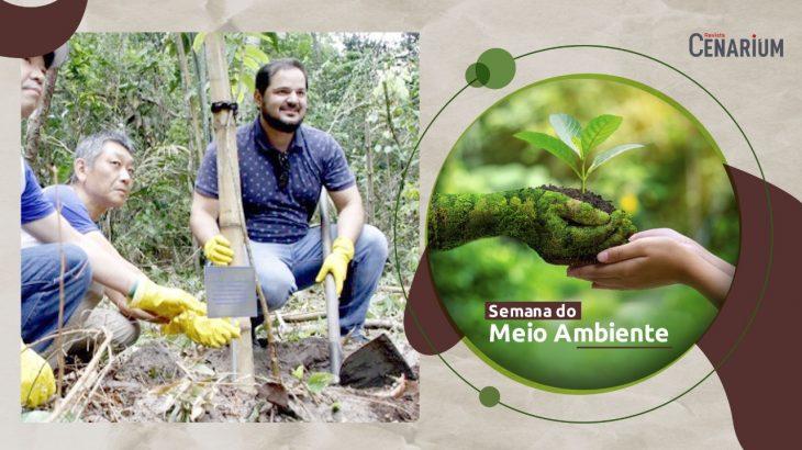 No Dia Mundial do Meio Ambiente, a REVISTA CENARIUM traz uma entrevista exclusiva com o secretário municipal de Meio Ambiente, Antônio Nelson Júnior. (arte: REVISTA CENARIUM)