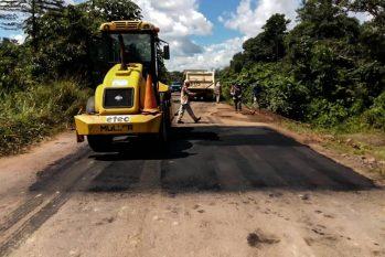 A frente de trabalho preventiva atua na PA-370, nos 122 quilômetros entre Santarém e a Hidrelétrica de Curuá-Una, no estado do Pará. (divulgação)