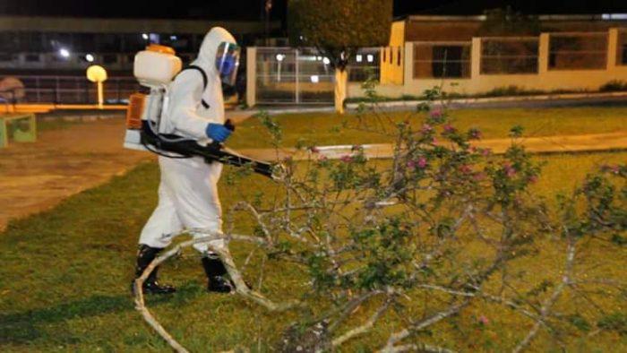 Serviços de desinfecção em Presidente Figueiredo (Divulgação/Prefeitura de Presidente Figueiredo )