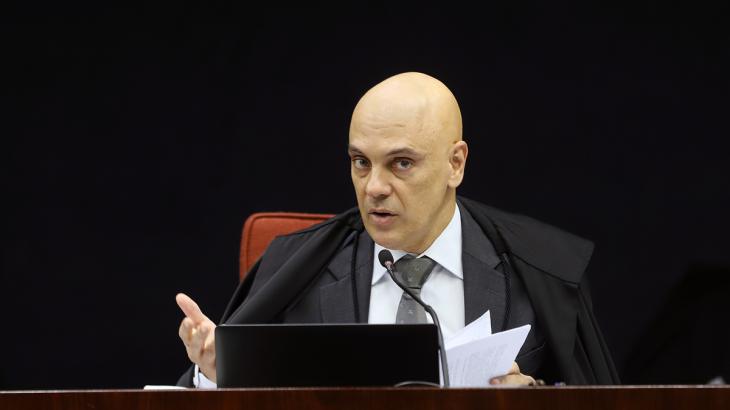 Moraes determinou a entrega de informações de diferentes sites bolsonaristas (Reprodução/Internet)