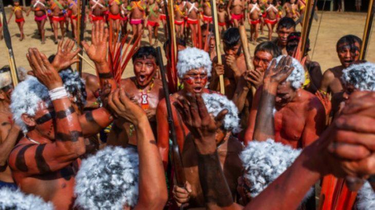 Lideranças Yanomami e Ye'kuana em novembro de 2019. (Divulgação/Victor Moriyama/ISA)