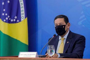 Contrariando discurso de Bolsonaro que criminaliza ambientalistas, Mourão vai ouvir setor visando parcerias (Romerio Cunha/PR)