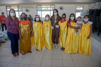 Ao todo, 2.800 cestas básicas e 4.100 kits de higiene foram repassados pelo país norte-americano e os primeiros beneficiados são as famílias de venezuelanos da etnia warao. (Semcom/ Divulgação)