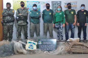 Os alvos da operação foram o distrito Senhor do Bonfim, Assentamento Santa Clara, Tarumã e os rios Caiapó, Piranha e Araguaia (Naturatins/Governo do Tocantins)