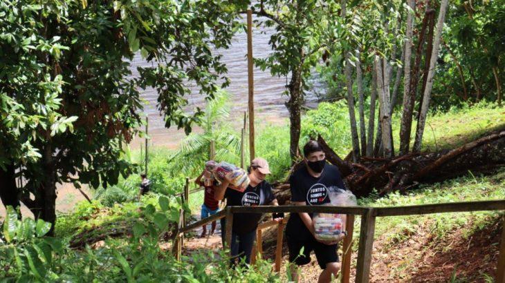 Comunidade Terra Preta recebeu 100 cestas básicas em ação de combate à pandemia (Divulgação)