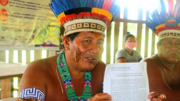 Líder Valdecir Wai Wai pede que os corpos de seus parentes sejam enterrados em suas terras. (Conselho Indígena de Roraima)