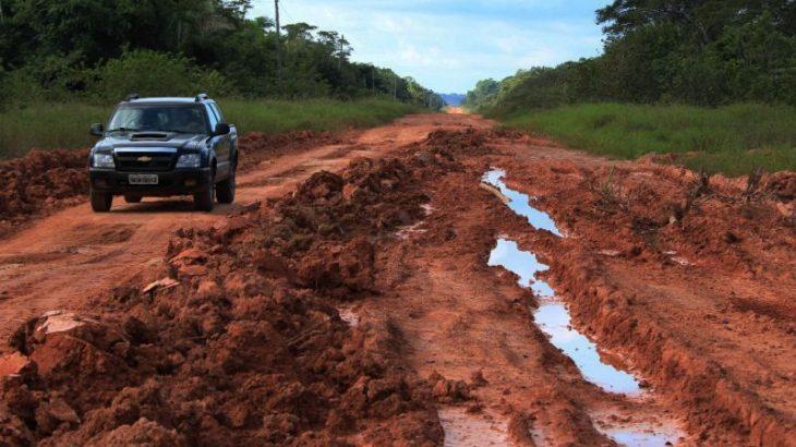 """Pavimentação do """"trecho do meio"""" da BR-319 vai do quilômetro 250 ao 655 e passa por seis municípios (Divulgação)"""