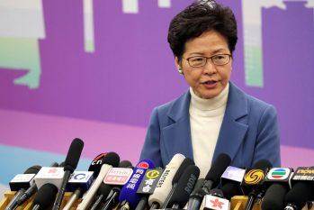 Líder do território, Carrie Lam disse que adiamento se deve à pandemia (© JASON LEE)