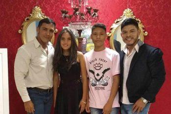 Evandro e Willian Lima com os filhos Carla Victoria e Carlos Eduardo (Evandro Lima/Arquivo Pessoal)