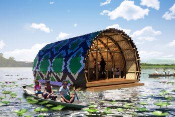 Projeto pretende se tornar uma referência para construção sustentável e de educação ambiental na Amazônia. (Divulgação/Marko Brajovic)