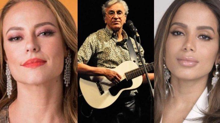 Paolla Oliveira, Caetano Veloso e Anitta, estão entre os artistas que fizeram publicações sobre o caso (Reprodução/ Internet)