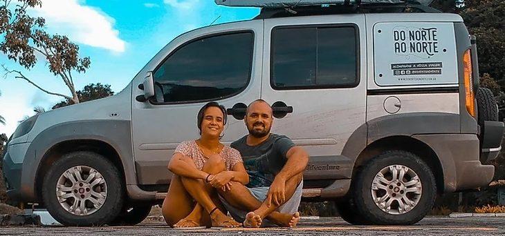 Elka e Luis Albuquerque, casal que trocou o escritório pelo trabalho remoto na estrada (Divulgação/Arquivo Pessoal)