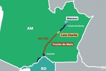 Obras de recuperação do trecho C da rodovia BR-319 foram liberadas esta semana pela Justiça Federal (DNIT)