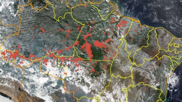 Satélites do Inpe fornecem dados para os programas de monitoramento do desmatamento e devastação florestal (Reprodução/ Internet)