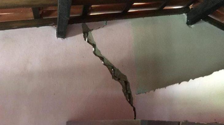 Na zona rural, alguns imóveis sofreram rachaduras, segundo a prefeitura de Amargosa (Divulgação/Prefeitura de Amargosa)