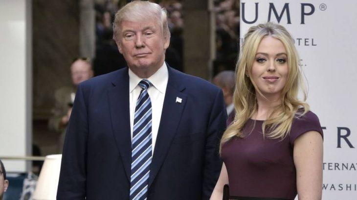 Donald e Tiffany Trump (MANDEL NGAN / AFP)
