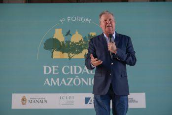 O encontro antecipa o Fórum de Cidades Pan-Amazônicas e teve a participação de representantes dos nove países amazônicos (Alex Pazuello/Secom)
