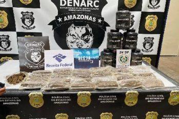 Drogas ilícitas avaliadas em R$ 500 mil que abasteceriam comunidades do Rio são apreendidas em Manaus