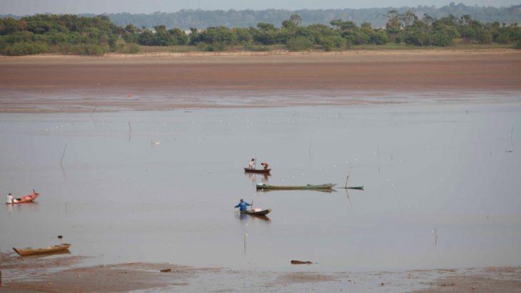 Vazante dos rios na Amazônia está modificando o cenário da região. (Ricardo Oliveira/Revista Cenarium)