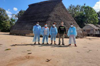 Indígenas no Vale do Javari buscam apoio à Associação Expedicionários da Saúde. (Divulgação/Univaja)
