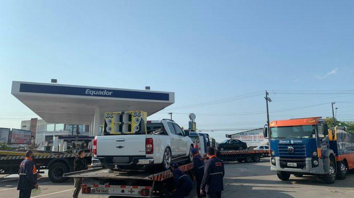Uso de paredões em postos de combustíveis está proibido no Amazonas desde Janeiro deste ano pela Lei 5.703 (Divulgação/Detran-AM)