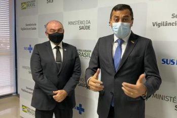 A parceria foi alinhada durante reunião com o secretário de Vigilância em Saúde, Arnaldo Medeiros (Divulgação/Secom)