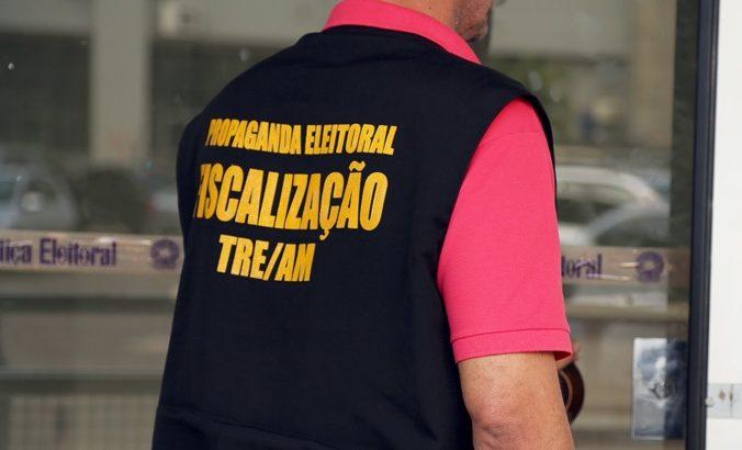 Para garantir medidas de prevenção à saúde, fiscais do TRE-AM vão às ruas. Foto: Reprodução/Internet