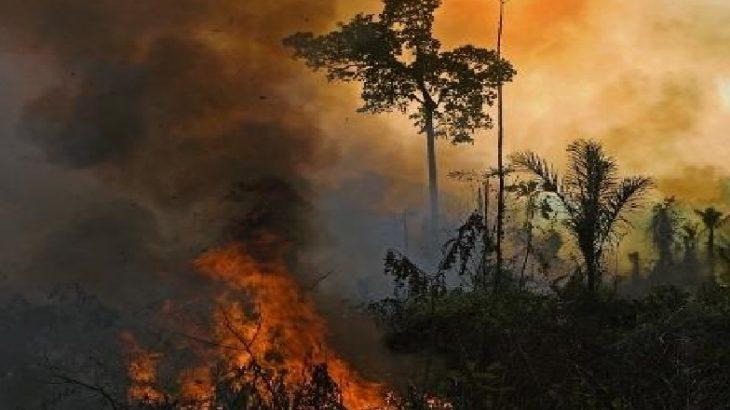 Equipes do Exército e brigadistas estão tentando apagar o fogo, que já dura pelo menos 20 dias na região (Carl de Souza/AFP)