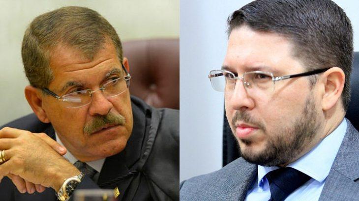 Presidente do STJ, Humberto Martins, e o vice-governador Carlos Almeida: argumentos não foram suficientes para derrubar decisão do TJAM (Reprodução/Internet)