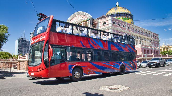 Ônibus panorâmico com 70 lugares para realização do City Tour (Reprodução/Secom)