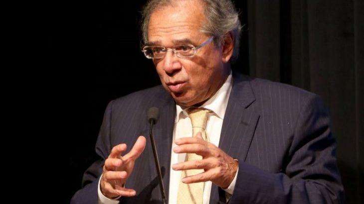 O ministro Paulo Guedes, durante um evento promovido pelo Credit Suisse (Reprodução/Internet)