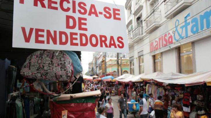 Em 2019, foram disponibilizadas 4.800 vagas temporárias para o comércio. Já neste ano de 2020, serão 2.500, conforme dados da CDL Manaus (Reprodução/ Internet)