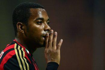 Robinho quando jogava no Milan, em setembro de 2013. (Olivier Morin/AFP)
